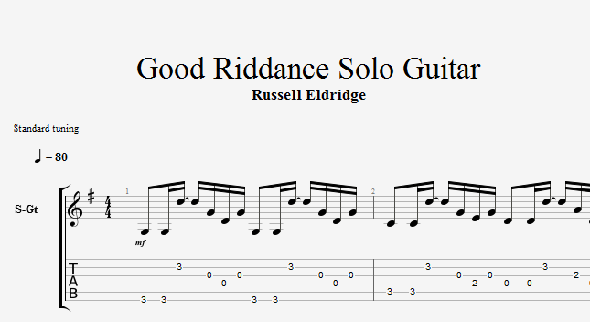 Fancy Good Riddance Green Day Chords Images - Guitar Ukulele Piano ...