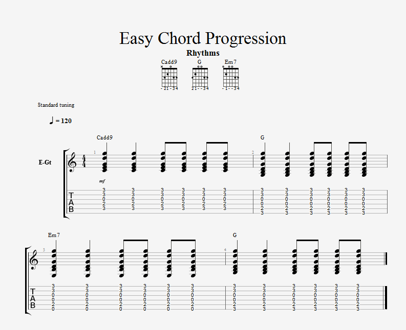 easy chord progression i