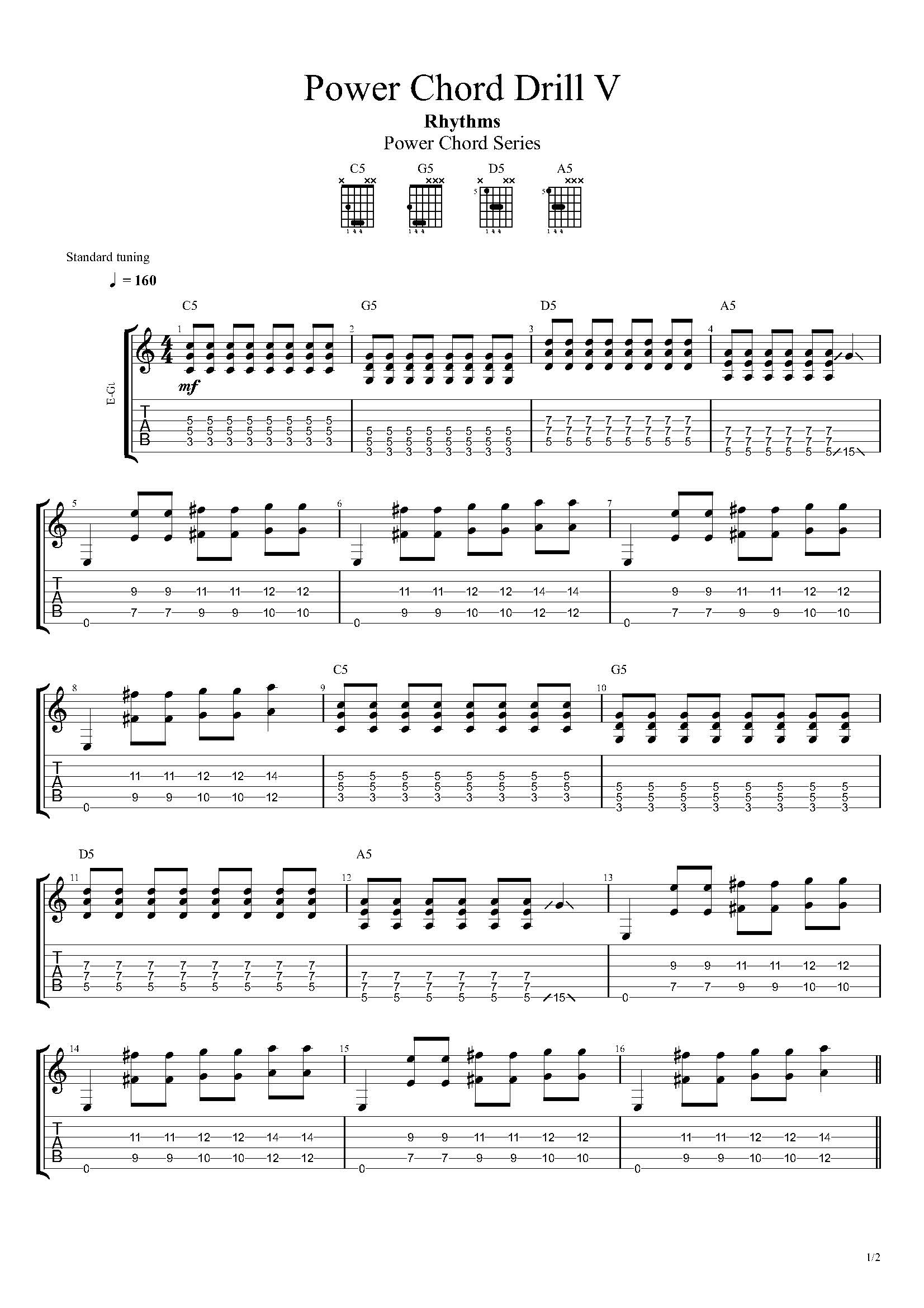 Power Chords On Acoustic Guitar